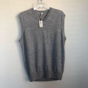 Peter Millar Merino Wool V Neck Grey Vest
